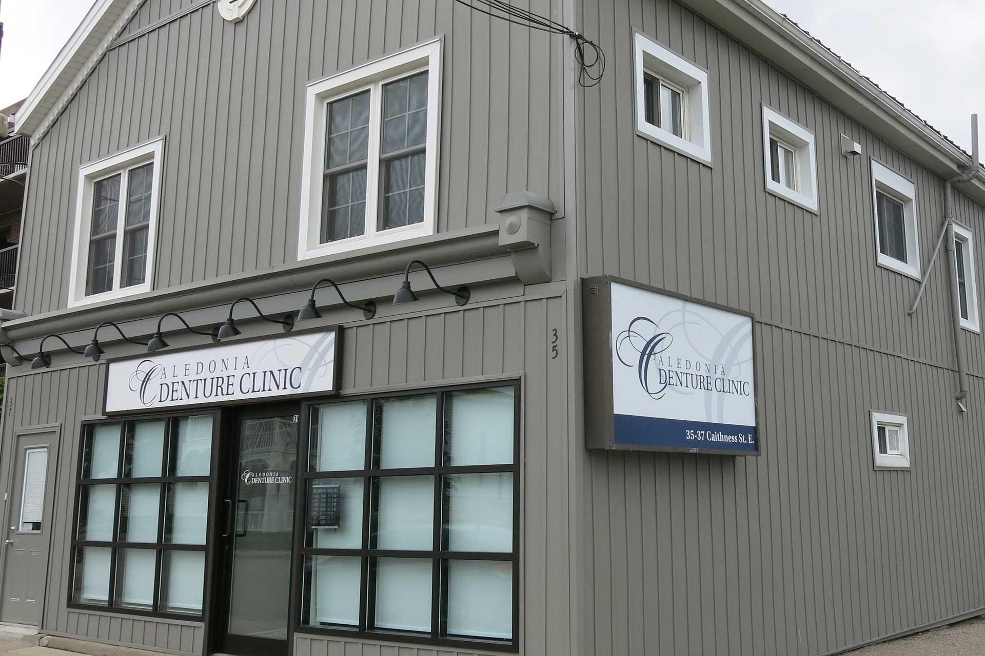 Exterior photo of Caledonia Denture Clinic Building