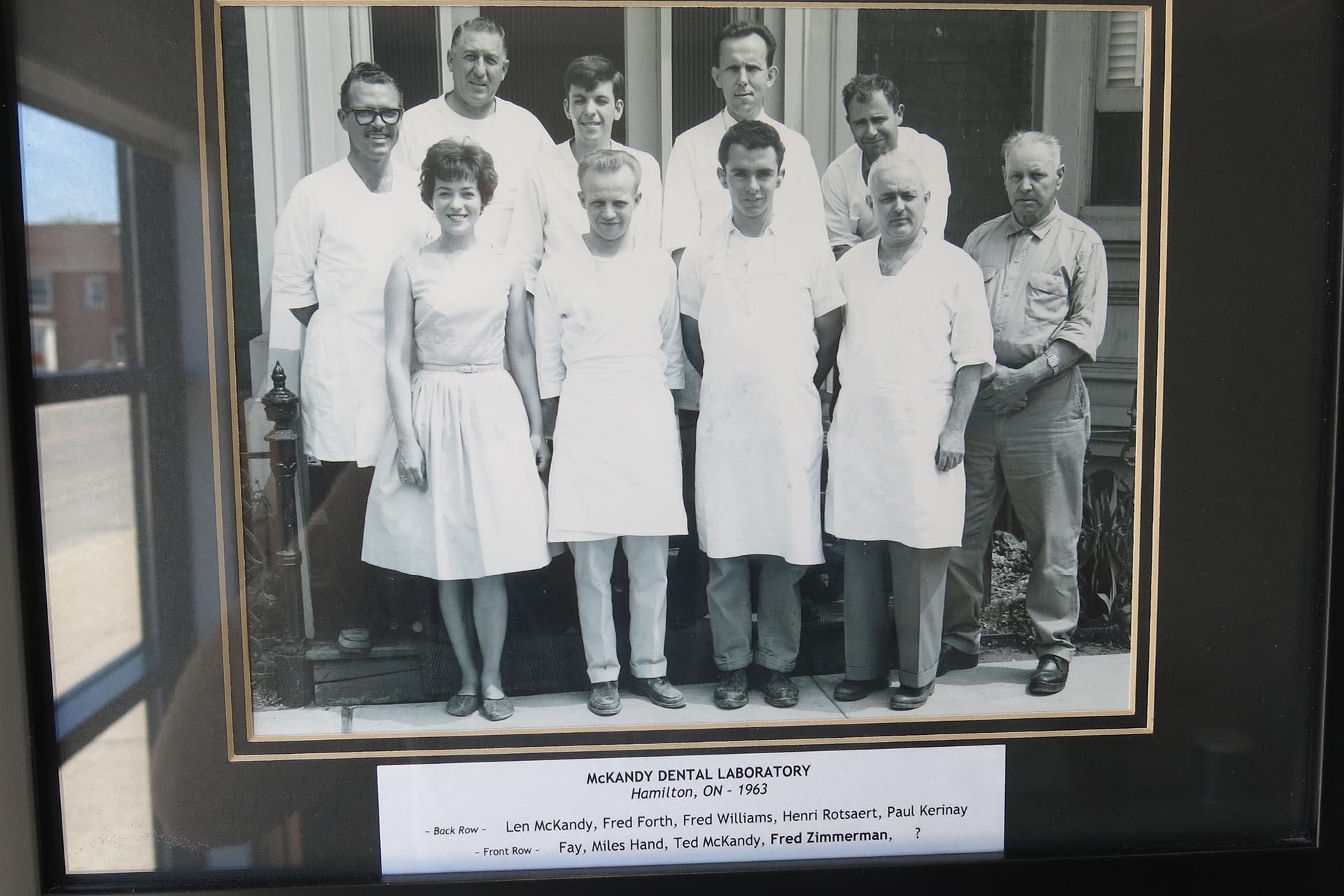 Group photo of original staff. Retro.